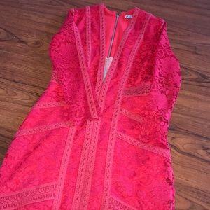 Dresses & Skirts - Red Designed Dress